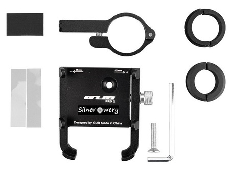 Uchwyt aluminiowy do roweru, hulajnogi, skutera, motocykla GUB PRO-2 (6)